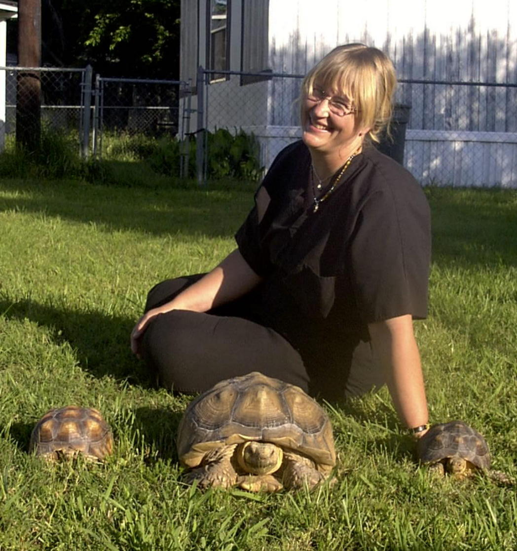 Sanctuary Director and Sulcata Tortoises